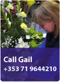 Call Gail now +353 71 9644210