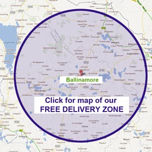 Our free delivery zone in Leitrim